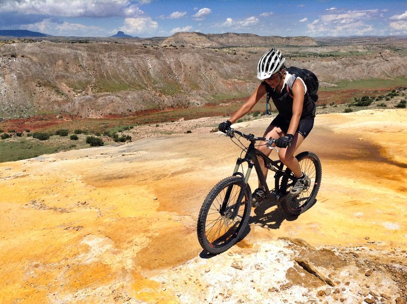 Minerals oozing out of the springs at White Mesa New Mexico