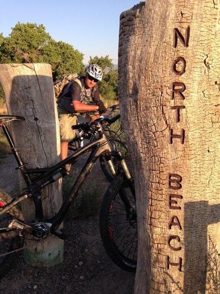 North beach trailhead area. The Bosque Rio Rancho New Mexico
