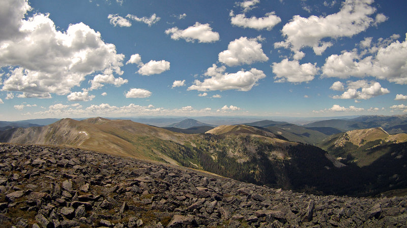 Highest point on Canyon Creek - almost 12,600 ft
