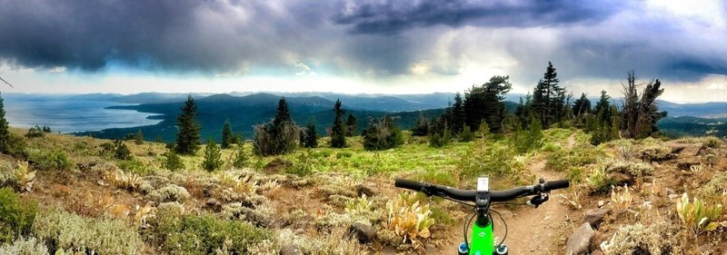 Great views spanning from Lake Tahoe to Donner Lake and all the way to Bocca Resevoir