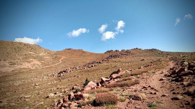 Pike's scree, rocks, boulders and steep grade make for a difficult climb.