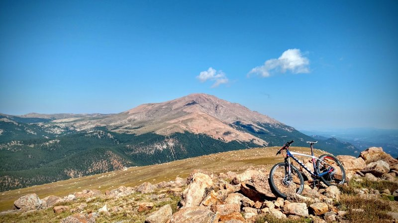 The view from the top toward Pikes Peak is breathtaking. 12,383ft/3774m