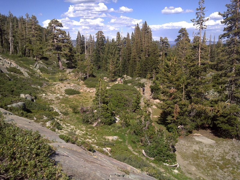 Beautiful alpine terrain on the Long Lake Trail.