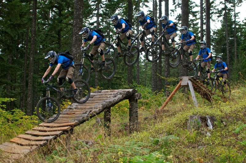 Some old-school photo stitching of a wood jump on 2 Chair 2. (Circa 2010)