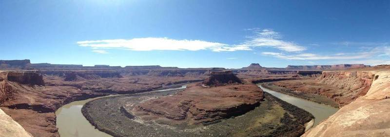 The Green River from the White Rim on a bluebird day.