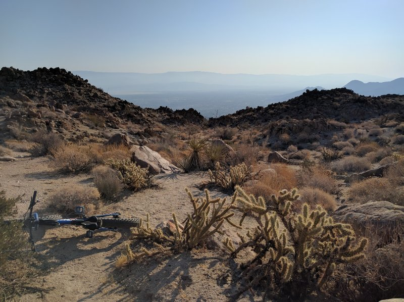A few miles in and you'll already be soaring over other trails in the Palm Desert network.
