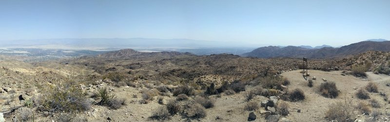 View from the top of Hahns Buena Vista Trail - from Palm Springs Airport to Palm Desert