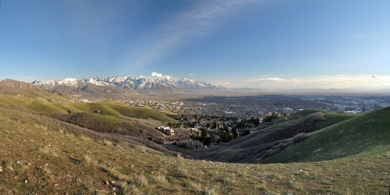 Salt Lake City from the Bonneville Shoreline Trail. with permission from HighDesertView