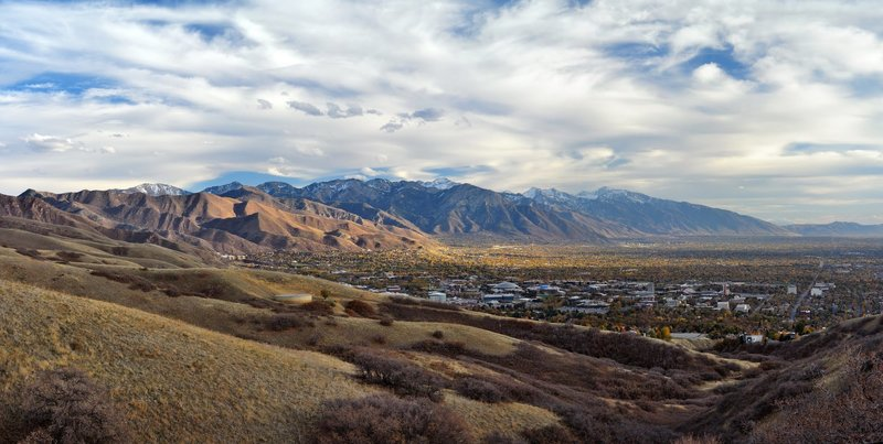 East Bench area of Salt Lake City below the Wasatch Mountains with permission from HighDesertView