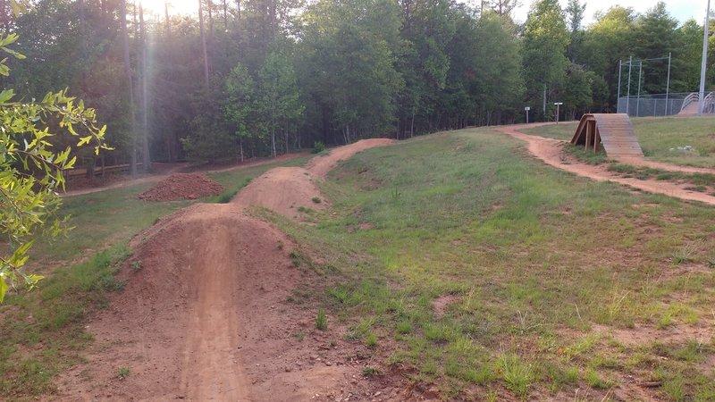 Dirt jump line.
