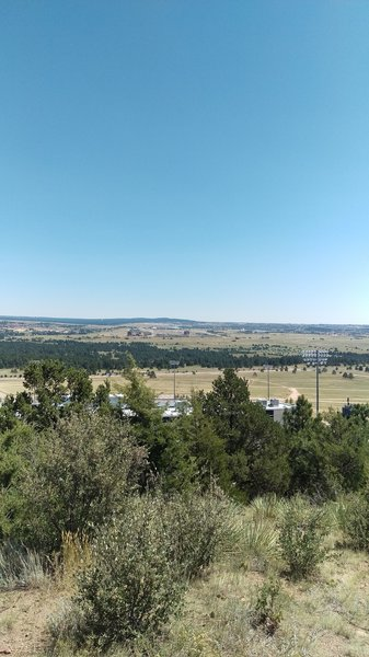 Overlooking Falcon Stadium from the trail.