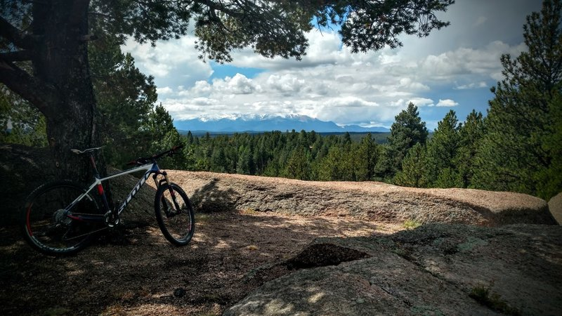 View towards Pikes Peak.