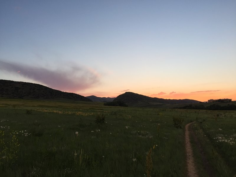 Sunset on the Two Brands Trail.