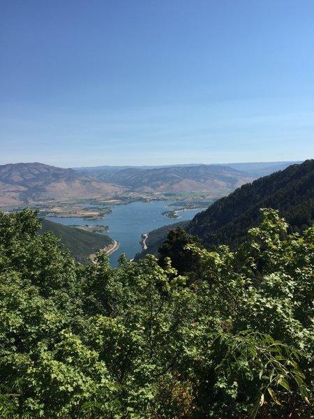 Overlooking Pineview Reservoir.
