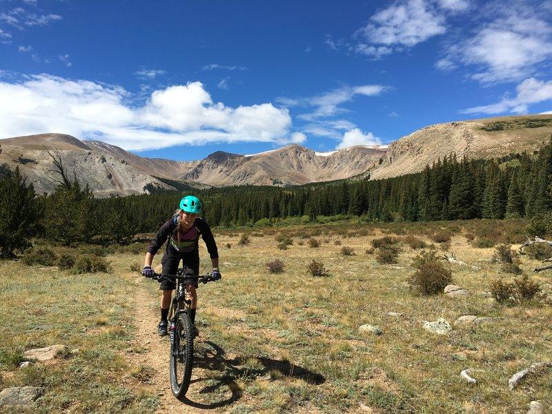 Stellar highcountry riding on Twelvemile Trail.