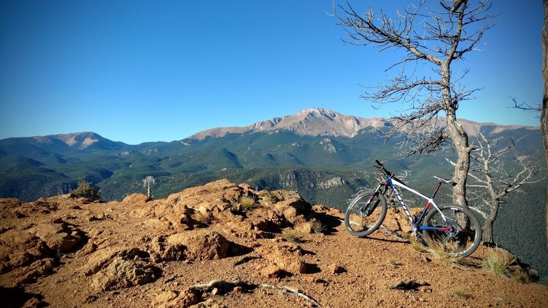 Pikes Peak from Rampart Range Road.