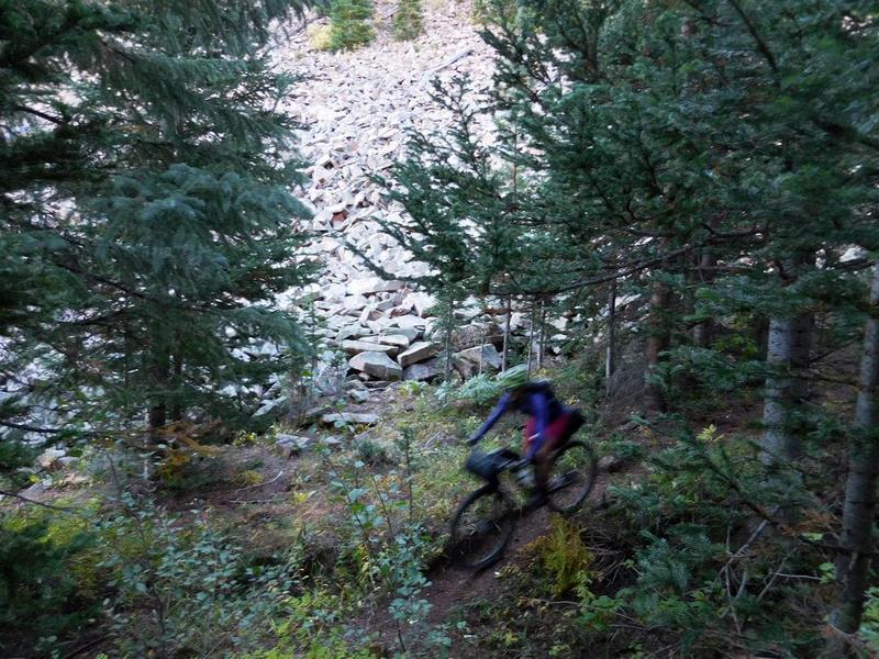 Sawmill Trail is a mix of hit and miss riding. Leave the HT at home!