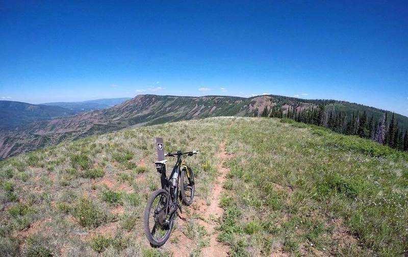 The faint, but amazing trail on Hardscrabble Ridge.