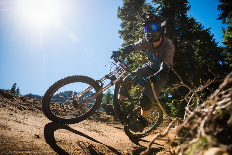 Sun and berms for days at Stevens Pass Bike Park, Wa.