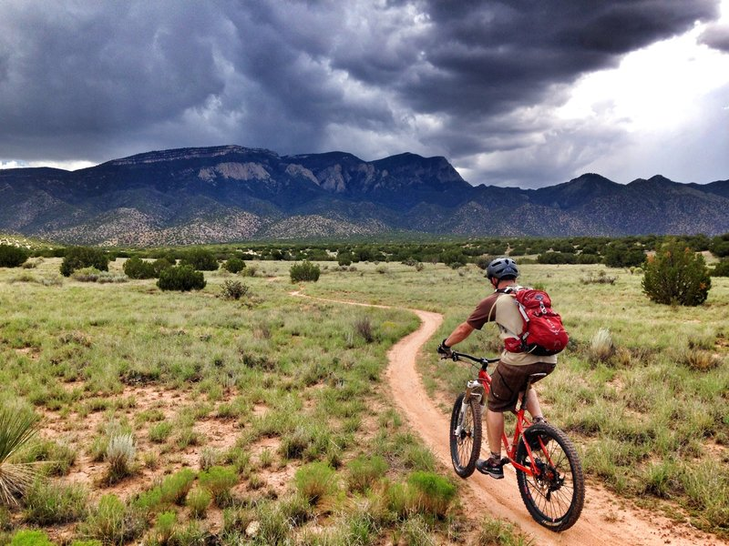 Quick ride before the monsoons roll over the Sandia Mountains. New Mexico
