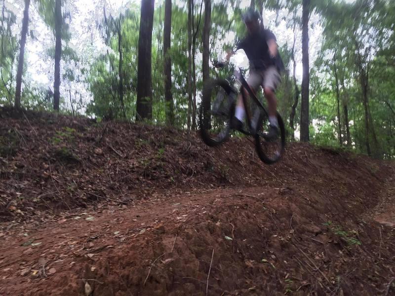 Big Levee trail tabletop jump.