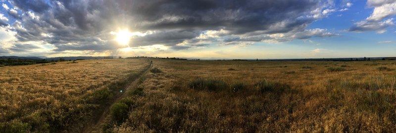 Looking west towards the overlook.