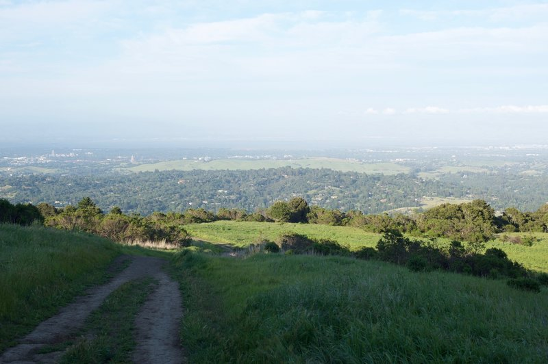 Even as it descends into the preserve, the views from the top of the Spring Ridge Trail are spectacular.