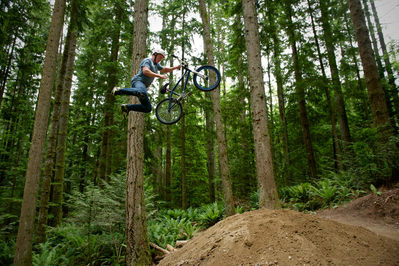 The Deep Water Horizon step-up is for riders looking for the challenge and height. Duthie Hill Park, WA.