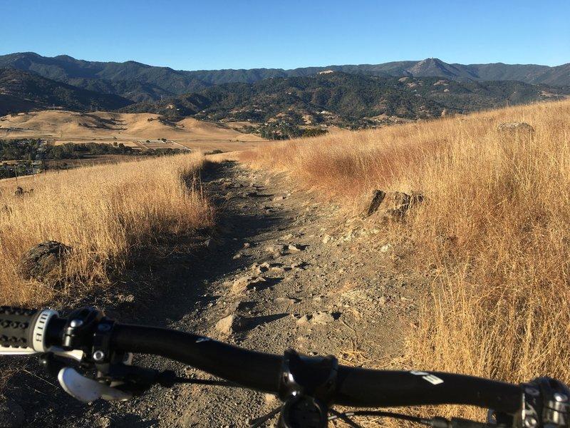 Heading down Stile Ranch.