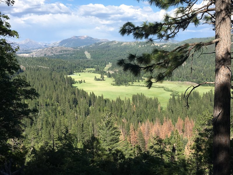 View of Bear Valley from small bench.