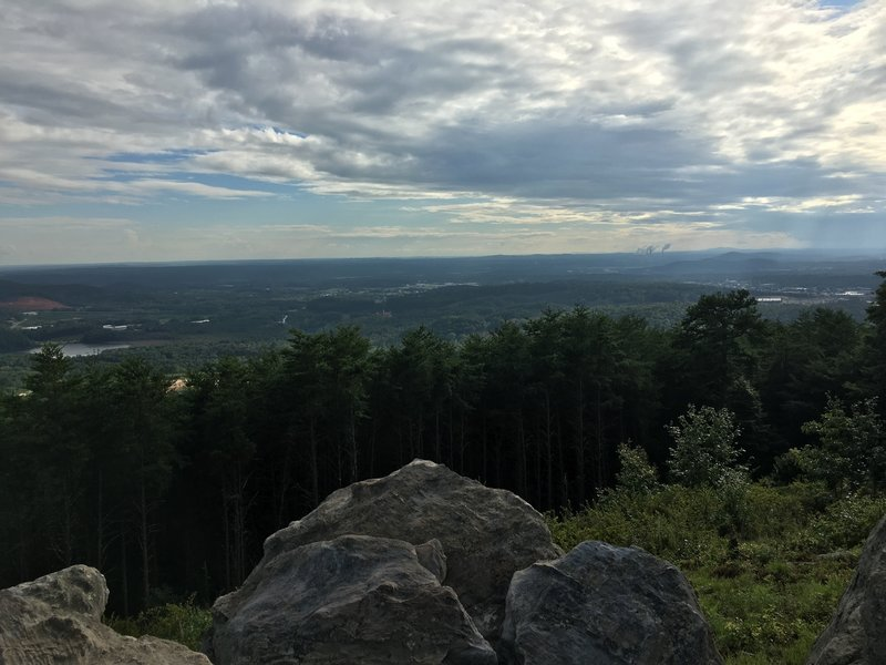 Part of what is a panoramic view at the Summit Overlook.