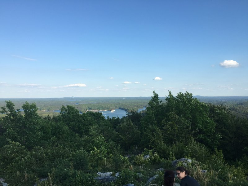 Part of what is a panoramic view at the Summit Overlook. Lake Allatoona down below.