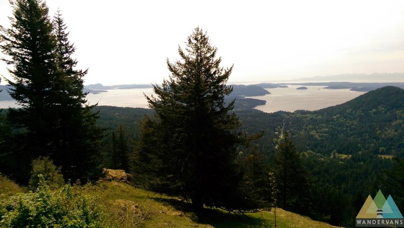 Looking out across the sound from Orcas Island.