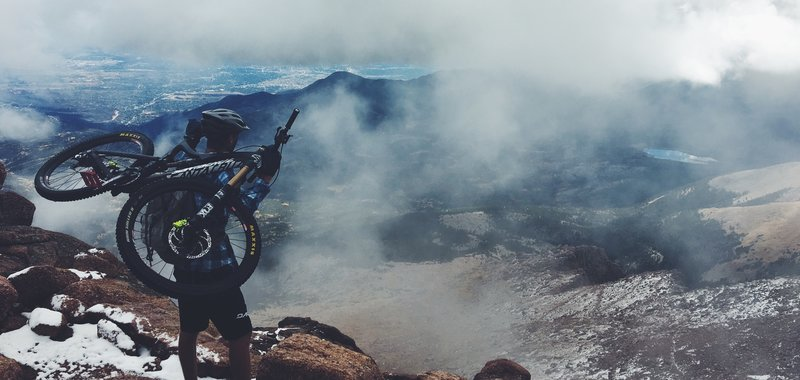 When riding 14er a lot of hike-a-bike is inevitable; luckily that leaves many opportunities to take some awesome shots!