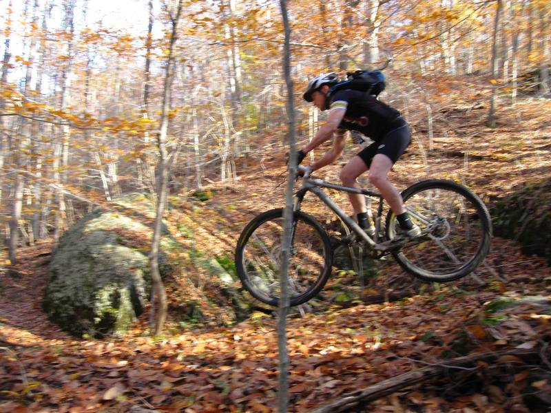 Getting some air at the bottom of Stoner Rock.