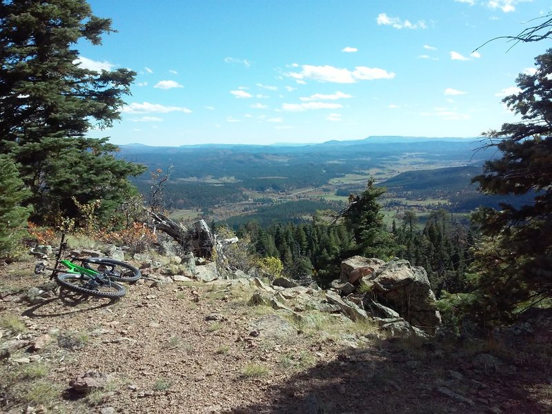 View from Jackson Mountain Peak, looking south.