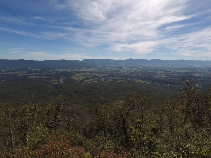This is the view from the old fire tower on Kennedy Peak. The river below is the South Fork of the Shenandoah River.