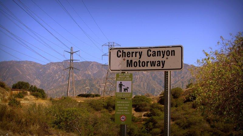 At Cherry Canyon Motorway.