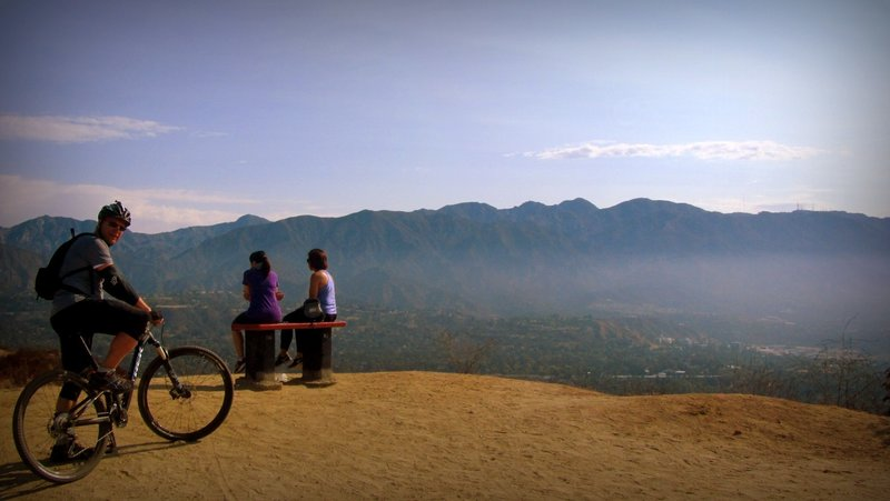 Rest bench on Cherry Canyon with great view.
