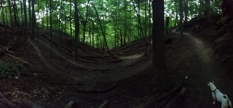 Panoramic photo of the big switchbacks.