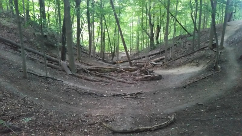 Another view of the big switchbacks at Bloomer.