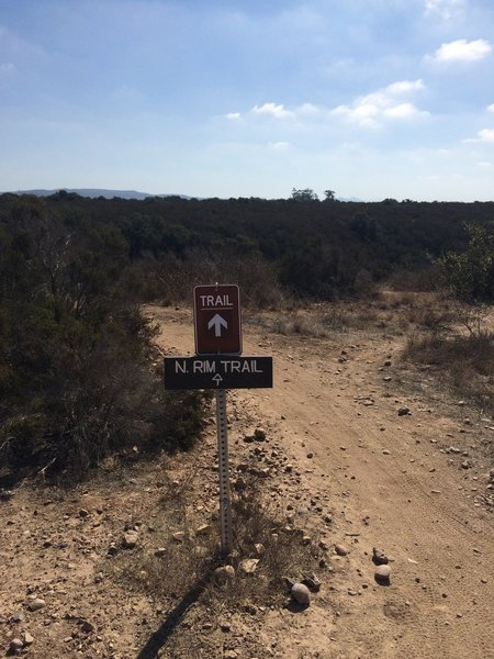North Rim Trail.