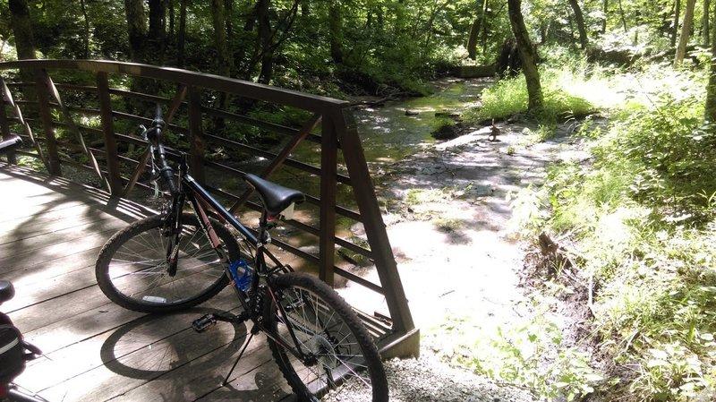 Creek bridge at end of loop 1, beginning of loop 2