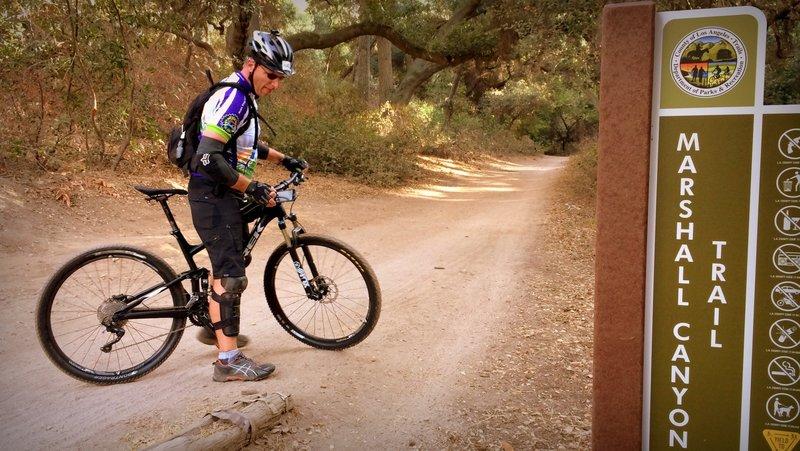 Marshall Canyon Trail.