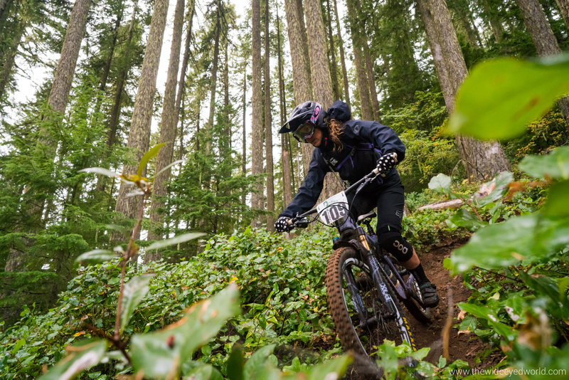 Eula trail gets a little rowdy through the middle with lots of loose sections on steep terrain.