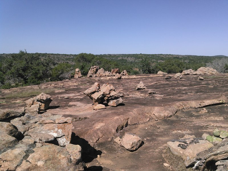 Awesome view of central Texas along the Upper Loop while riding on top of billion year old Valley Spring Gneiss