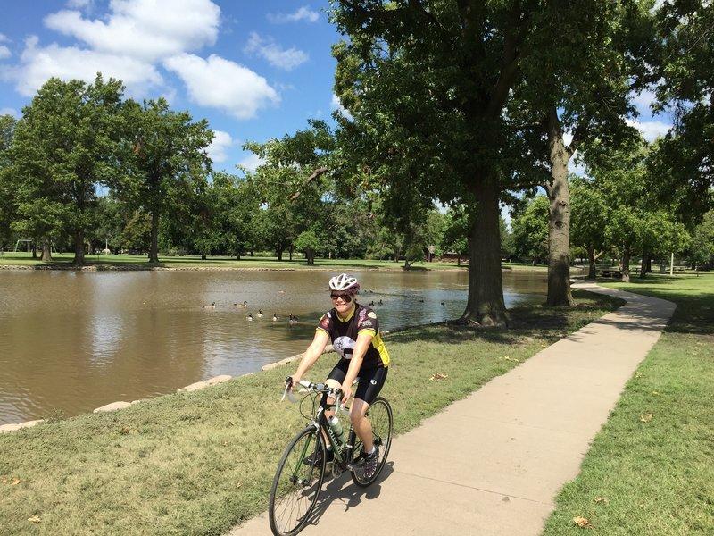 A nice ride around the pond.