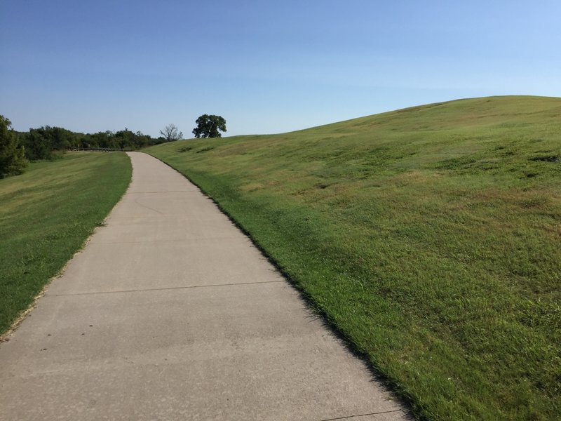 Practice riding up this sledding hill for climbing practice.