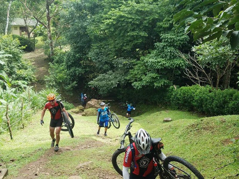 Hike-a-biking at its finest.