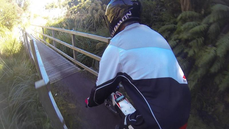 The first river crossing on The Ohakune Old Coach Road.